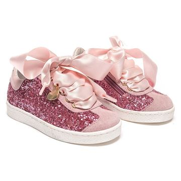 Picture of Monnalisa Pink Glitter Trainers