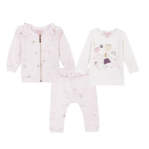 Picture of Lili Gaufrette Baby Pink Star Tracksuit