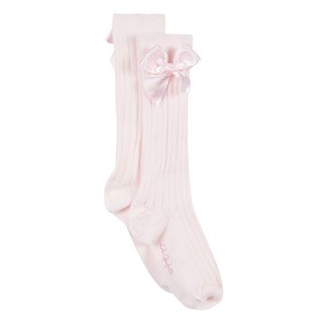 Picture of Lili Gaufrette Pink Bow Socks