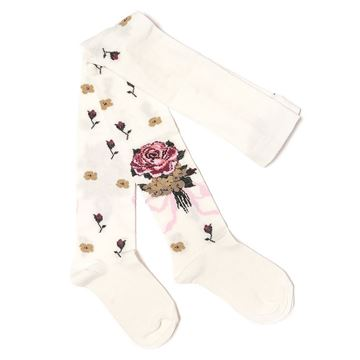 Picture of Monnalisa Ivory Rose Tights