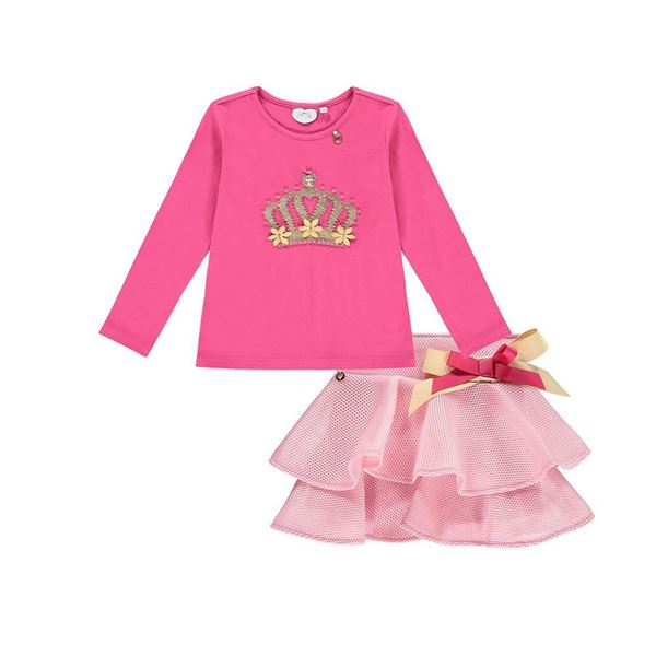 Picture of Ariana Dee Pink Top & Skirt Set