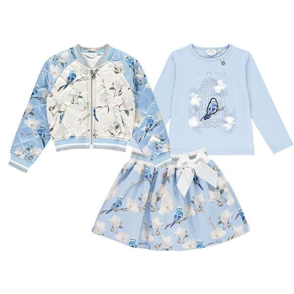 Picture of Ariana Dee Bluebird Top & Skirt Set