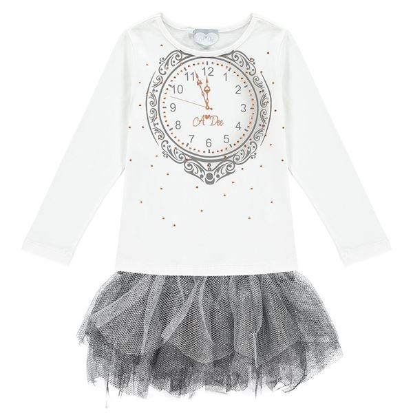 Picture of Ariana Dee Cream Clock Dress