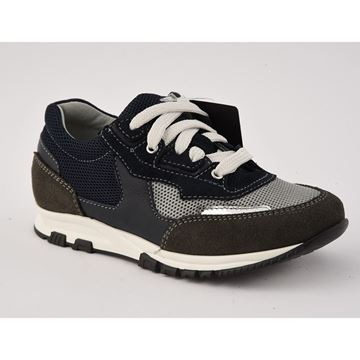 Picture of Lanvin Navy & Grey Runners