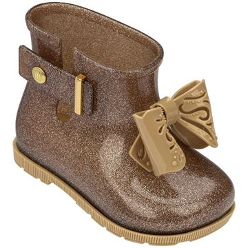 Picture of Mini Melissa Gold Bow Boots