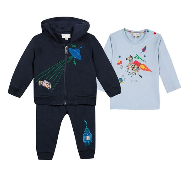 Picture of Paul Smith Navy Tracksuit with T-Shirt