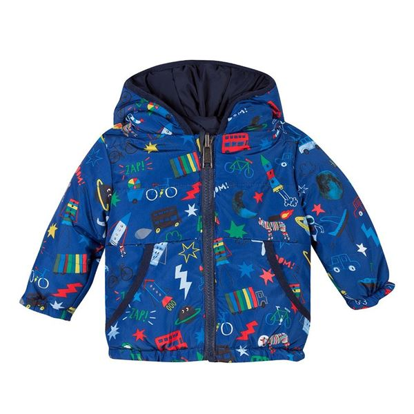 Picture of Paul Smith Baby Blue Printed Coat