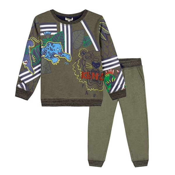 Picture of Kenzo Khaki Green Tiger Tracksuit