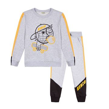 Picture of Kenzo Boys Grey & Lemon Tracksuit