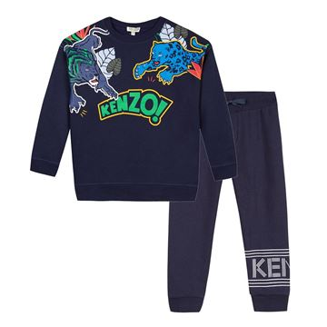 Picture of Kenzo Boys Navy Tiger Tracksuit