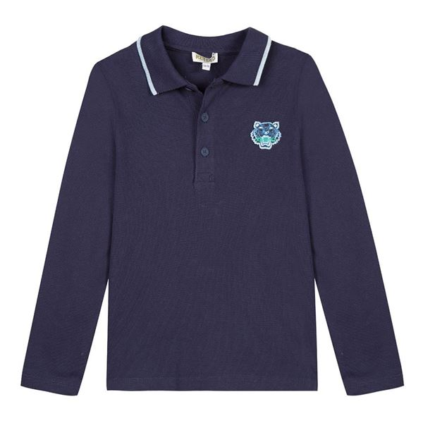 Picture of Kenzo Boys Navy Polo Top