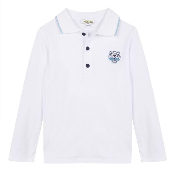 Picture of Kenzo Boys White Polo Top