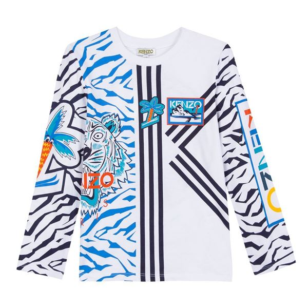 Picture of Kenzo Boys White Printed Top