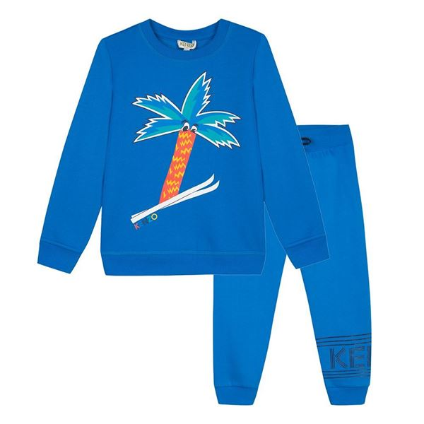 Picture of Kenzo Boys Blue Palm Tracksuit