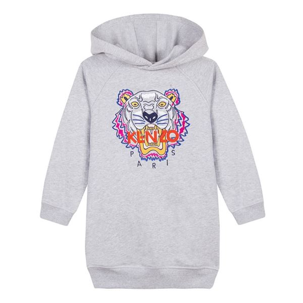 Picture of Kenzo Girls Grey Tiger Dress