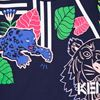 Picture of Kenzo Girls Navy Blue Tiger Dress