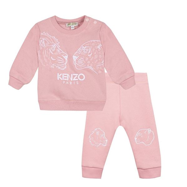 Picture of Kenzo Girls Baby Pink Tracksuit