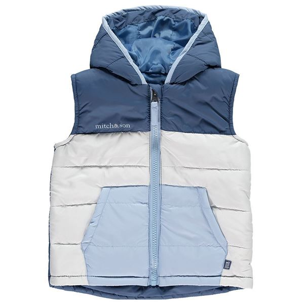 Picture of Mitch & Son Boys Blue Gilet