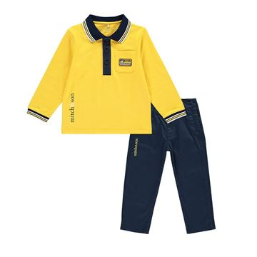 Picture of Mitch & Son 'North Sea' Yellow & Navy 2 Piece Set