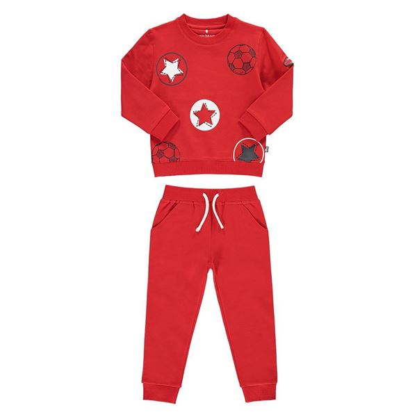 Picture of Mitch & Son 'Football Star' Red Tracksuit