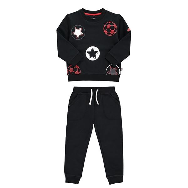 Picture of Mitch & Son 'Football Star' Black Tracksuit
