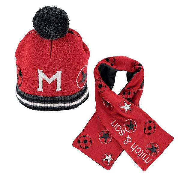 Picture of Mitch & Son Red Hat & Scarf Set