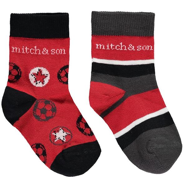 Picture of MItch & Son Red Pack of 2 Socks