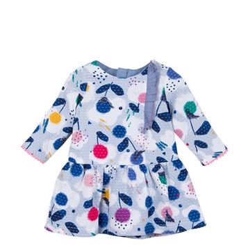 Picture of Catimini Baby Girl Blue Printed Dress
