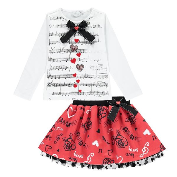 Picture of Ariana Dee Love Songs Top & Skirt Set
