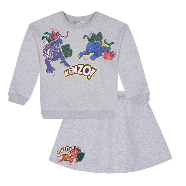 Picture of Kenzo Girls Grey 2 Piece Set