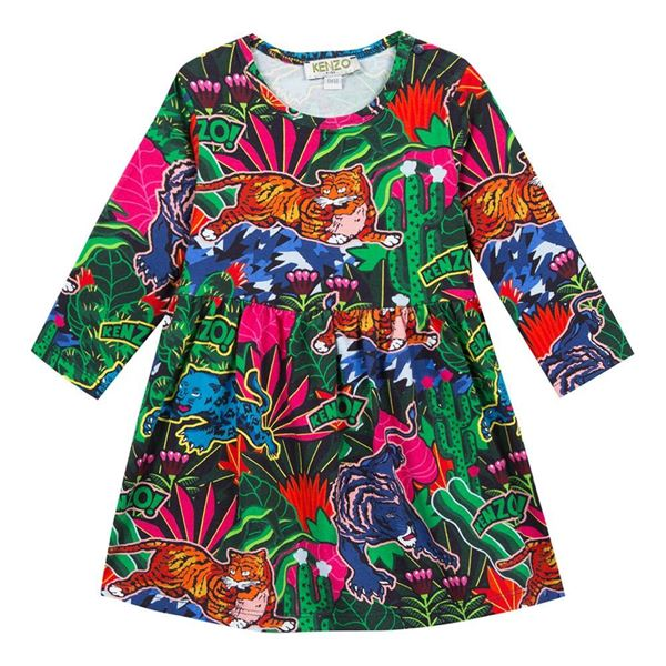 Picture of Kenzo Baby Girl Jungle Print Dress