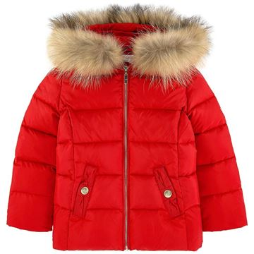 Picture of Lili Gaufrette Red Coat with Fur Hood