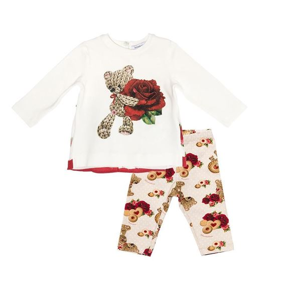 Picture of Monnalisa Baby Red Teddy Leggings Set