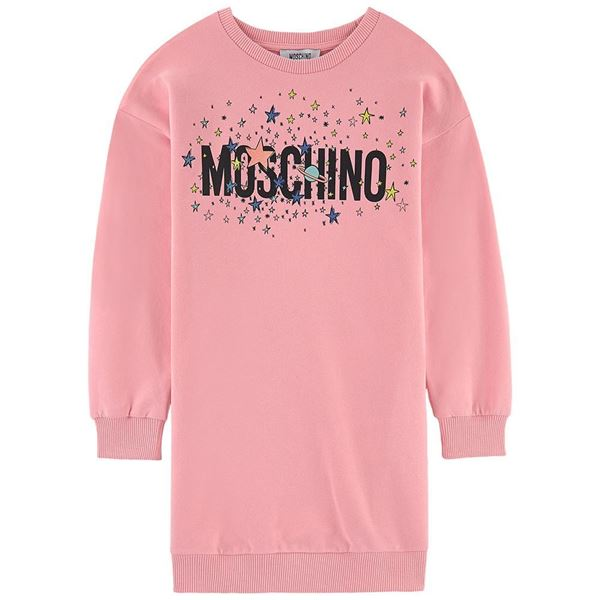 Picture of Moschino Girls Pink Jumper Dress