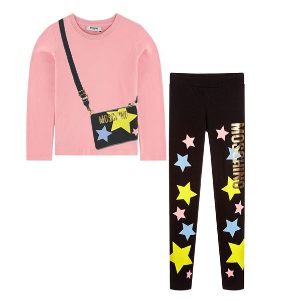 Picture of Moschino Girl Star Leggings Set