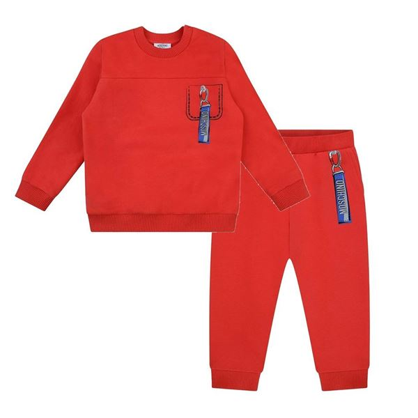 Picture of Moschino Baby Boys Red Tracksuit