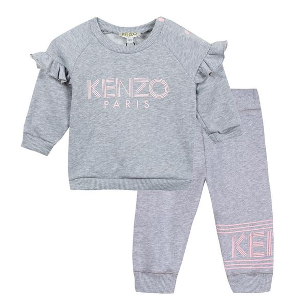 Picture of Kenzo Girls Grey Tracksuit