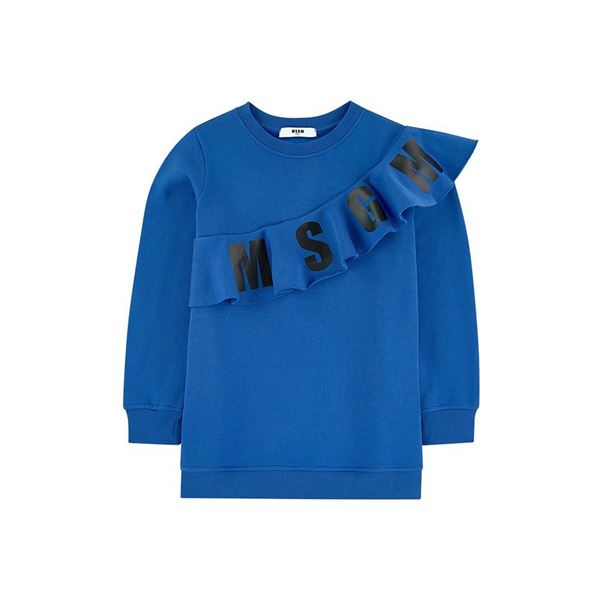 Picture of MSGM Blue Jumper Dress