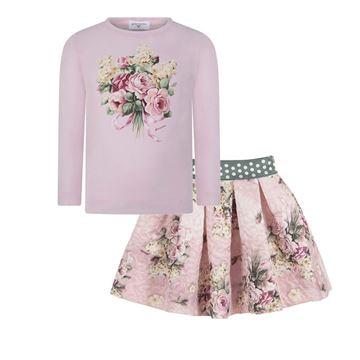 Picture of Monnalisa Pink Top & Skirt Set