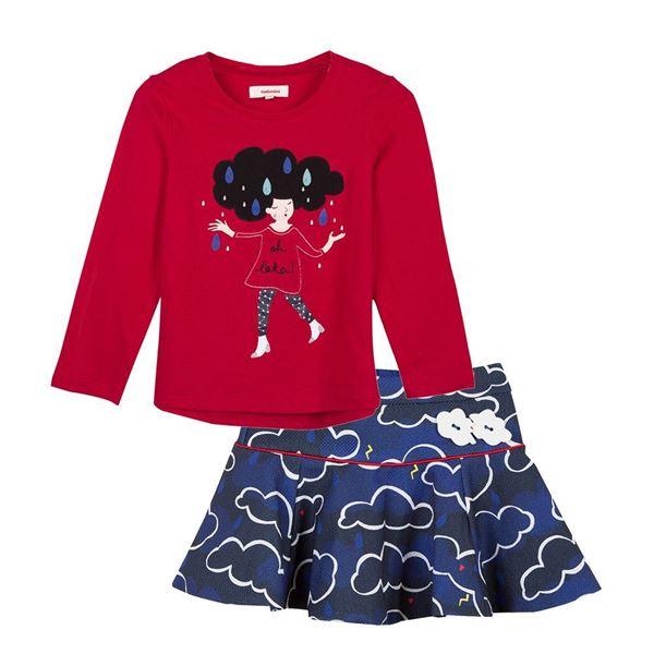 Picture of Catimini Girls Top & Skirt Set