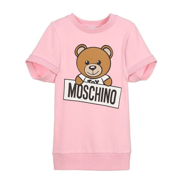 Picture of Moschino Girls Pink Teddy Dress