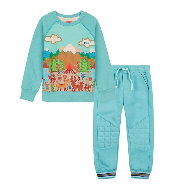 Picture of Oilily Boys GreenTracksuit