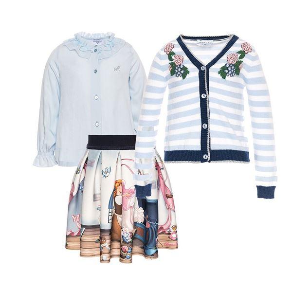 Picture of Monnalisa 'Cinderella' Shirt & Skirt Set