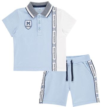 Picture of Mitch & Son Pale Blue 2 Piece Short Set