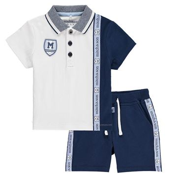 Picture of Mitch & Son Navy 2 Piece Short Set