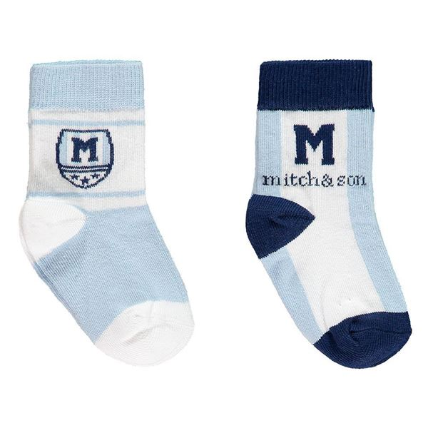 Picture of Mitch & Son Blue Pack of 2 Socks