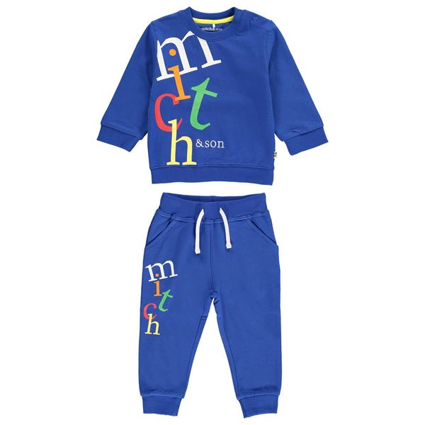 Picture of Mitch & Son 'Pencil' Blue Tracksuit