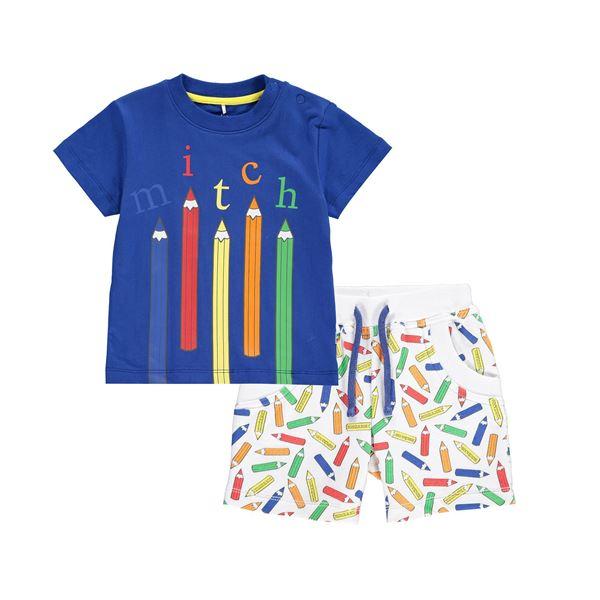 Picture of Mitch & Son 'Pencil' Blue 2 Piece Set