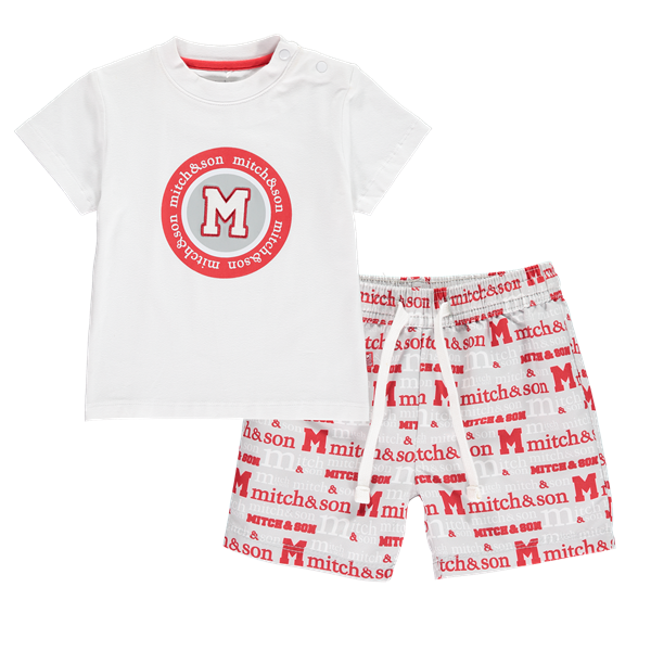Picture of Mitch & Son Red Printed 2 Piece Set