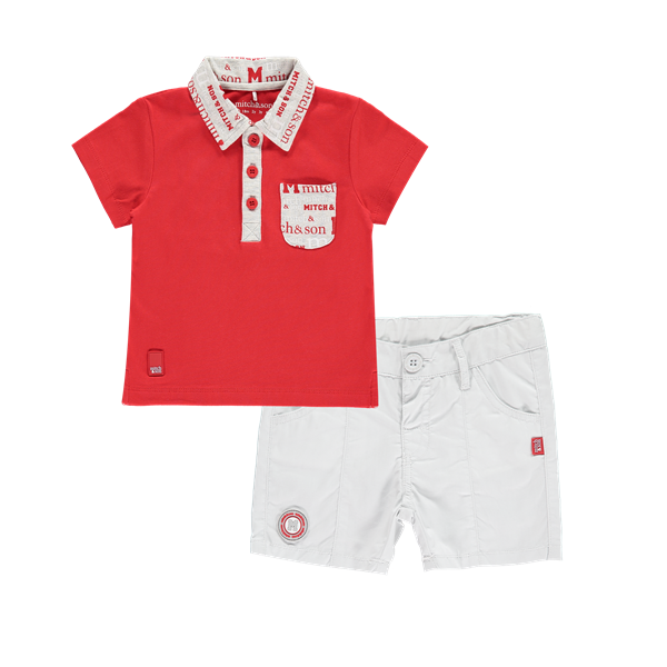 Picture of Mitch & Son Red & Grey 2 Piece Set
